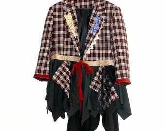 Hoiday Sale Romantic Bohemian Jacket Eco Fashion Art to wear