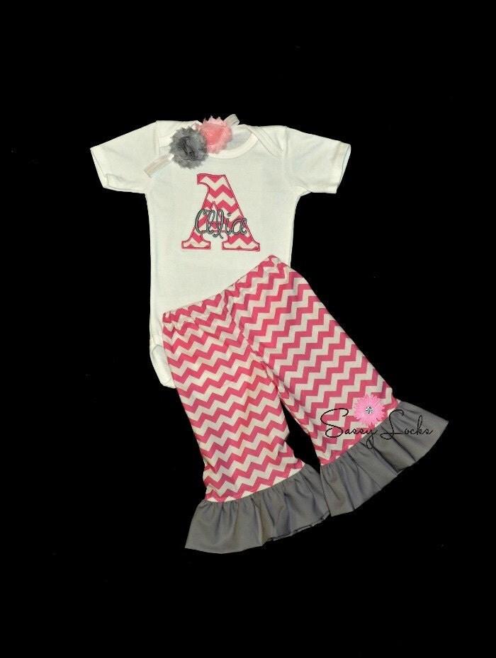Personalized baby girl clothes newborn take by sassylocks