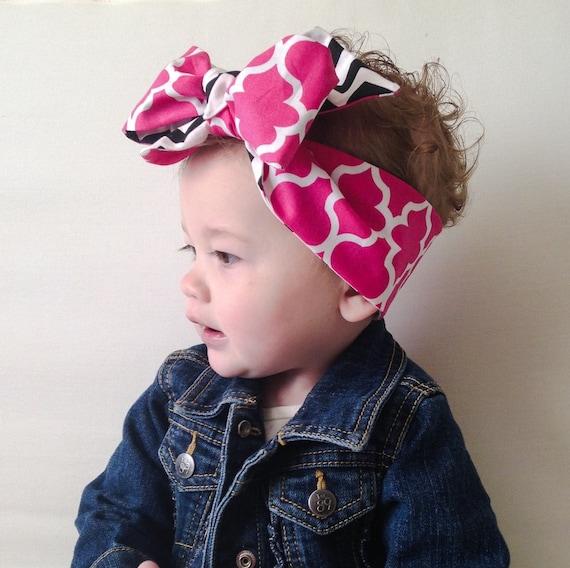 Baby Headwrap Baby Head Wrap Big Bow Tie By