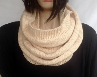 Ivory Infinity Knit Scarf Winter Scarf Women Knit Infinity Scarf Scarves Men Scarf Women Christmas Gifts For Her Holiday Fashion