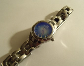 Ladies Watch Blue Dial Stainless Steel Quartz