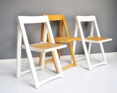 Vintage Folding A-Frame Chair - Caned Folding Chair - Extra Seating
