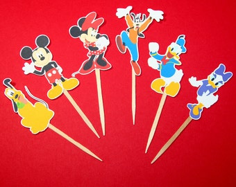 Mickey Mouse and Friends Cupcake Toppers Set of 12