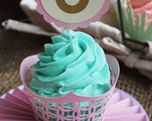 Horse Shoe Cupcake Toppers In Your Choice of Color Qty 12