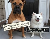 Pregnancy Reveal Sign:  Choose Colors and Wording - Include the dog - Photo Prop, Keepsake