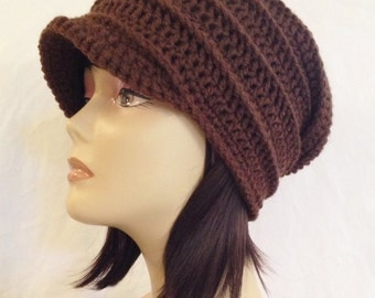 slouch with brim,newsboy hat,beanie with brim,ribbed slouch with brim,hot orchid,made to fit teens and adults 21-23""