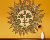 Celestial Sun Art Wall Sticker Decal - Helios by Valentina Harper