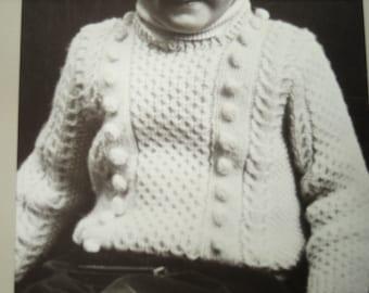 Vintage Straker Design Knitting Pattern, Pullover Sweater, Child's Fisherman Sweater, Knitting pattern, Penny Straker Original Pattern, 815