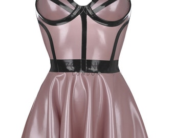 RITZ Latex Skater Cage Dress