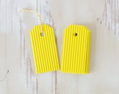 Bright Yellow Small Gift Tags with Twine - 8 pc