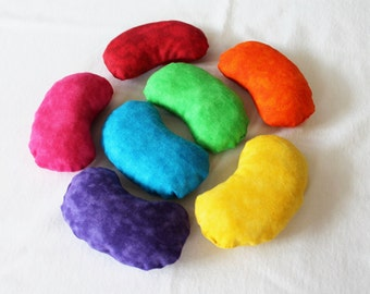 Popular items for shaped bean bags on etsy for Hand shaped bean bags