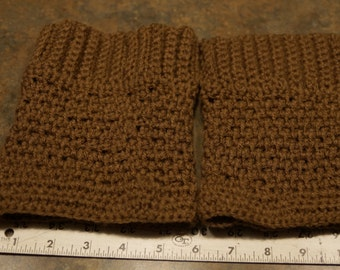 Tan Boot Cuffs nice and tall!