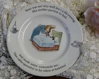 Beatrix Potter Peter Rabbit Wedgwood China Childs Plate