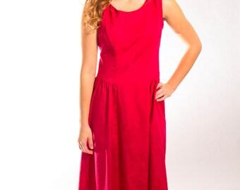 Red dress sleeveless size medium to large