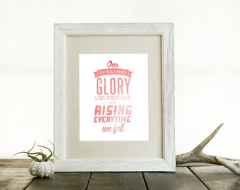 Our Greatest Glory 8x10 Print