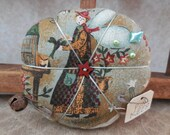 Primitive Summer Pin Cushion Holiday Angel Pin Keep Ornament Tuck