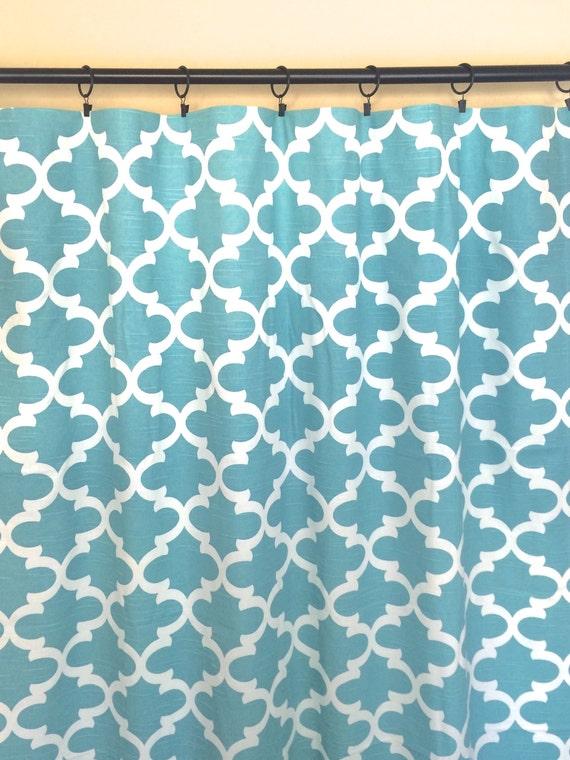 blue moroccan curtains window drapes all sizes quatrefoil curtains