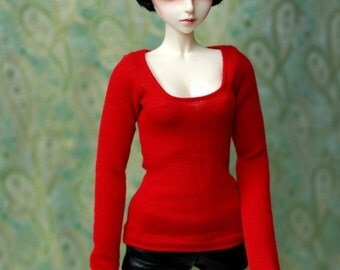 SD Red Long Sleeved Top For 1/3 BJD