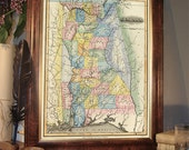 Old map of Alabama  - Wonderful reproduction of Alabama map
