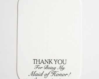 NOT for Individual Purchase - Thank you for Being my Maid of Honor Jewelry Card, Bridal Party Gifts, Gift Packaging, Bridesmaid Gift
