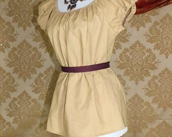 """Wheat Cotton Willow Chemise -- Sz. M -- Fits Bust 36""""-40"""" --  Ready to Ship"""