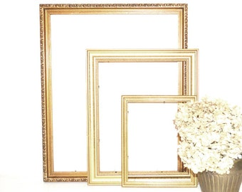 Gold Frames Gold Picture Frames Wall Hangings Gold Wedding Decor Picture Frames for DIY Home Decor DIY Projects