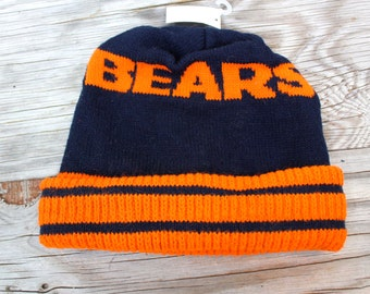 Vintage Retro Chicago Bears Knit Snow Beanie