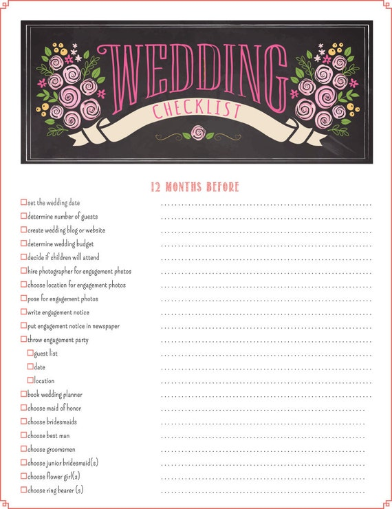 photo relating to Maid of Honor Printable Planner referred to as Printable Wedding ceremony Listing Planner