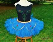 Full Set Size Small Princess ANNA Inspired Disney Movie Frozen Adult Ladies Womens Marathon Tutu Skirt & Top Party Costume Halloween