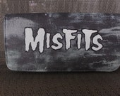 Misfits Studded grey and white Zipper Wallet