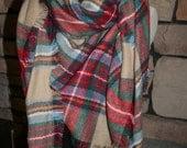 Sale Plaid Tartan Blanket Scarf  Multicolor Plaid Scarf Christmas Gift Scarves Zara Style Plaid-Sale-Monogramming Avail