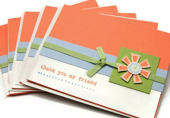Thank You Card Set - Floral Thank You Cards - Stampin Up Handmade Cards
