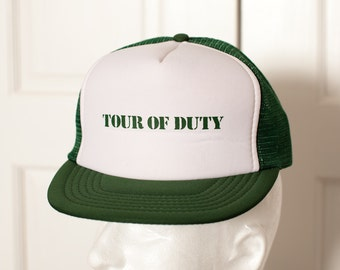 Vintage Mesh Trucker Hat - TOUR OF DUTY - adjustable