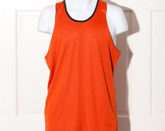 Reversible Orange and Black Tank Jersey - L