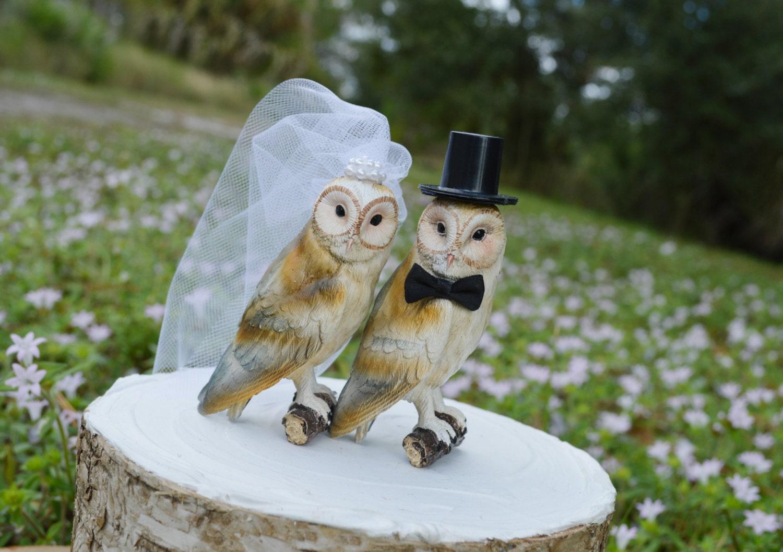 owls wedding cake topperbarn owls cake topperrustic cake