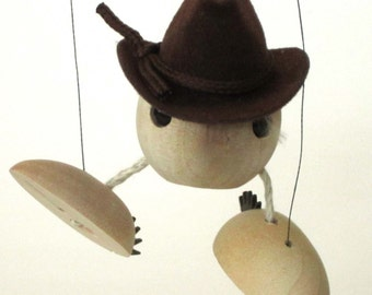 Cowboy Marionette (Simple Walking, Dancing String Puppet with a Western Flair)