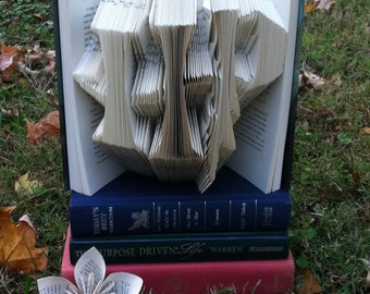 Harry Potter folded book art - HP lightning bolt