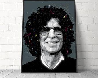 Fine Art Pop Art, Art Print - Howard Stern Art Print