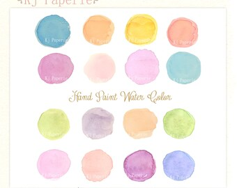 Watercolor Clip art,  Watercolor digital  Clip art, Watercolor Dots, Hand Painted Clipart
