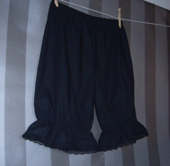 MADE TO ORDER Gothic Eco Victorian Bloomers Steampunk Lolita Organic Cotton Fairtrade Striped