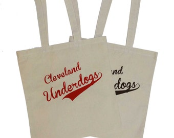 Cleveland Underdogs Totes (Red or Brown Ink)