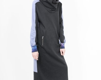 OUTLET -65%  Minimal SONA Dress with large hood, made from organic cotton