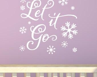 Let It Go Snowflakes Vinyl Wall Decal Sticker Decor Walt Disney Frozen Anna Elsa Olaf