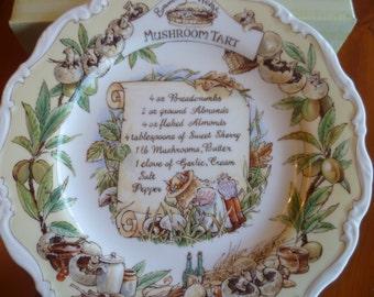 Brambly Hedge Royal Doulton Mushroom Tart Recipe Plate - Boxed