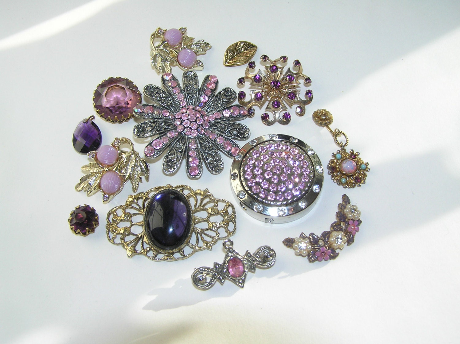 Vintage Jewellery Wedding Bouquets : Vintage jewelry lot bridal brooch bouquet by poppyhillvintage