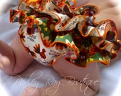 Beautiful Parley Ray 'Gobble Til You Wobble' Thanksgiving Turkey Ruffled Diaper Cover Baby Bloomers/ Photo Prop Fall/ Autumn Bloomer