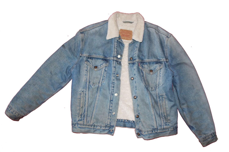 Vintage Levi S Denim Jacket White Fleece Lined Mens