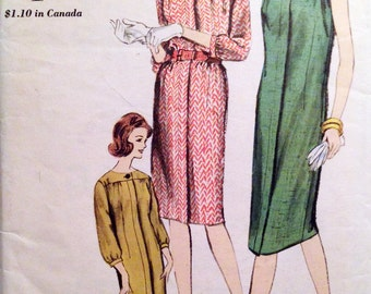 "Vintage 1960s Vogue Misses' Dress Pattern 5922 Size 10 (31"" Bust)"