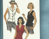 Vogue 8638 Sexy Fitted Tuxedo Vest Sizes  14..16..18