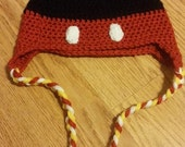 Mickey Mouse or Minnie Mouse Crocheted Hat